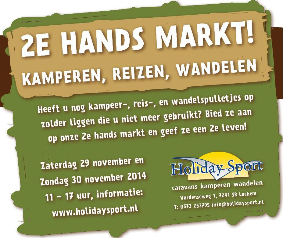 Holiday sport 2e hands markt 29-11-2014